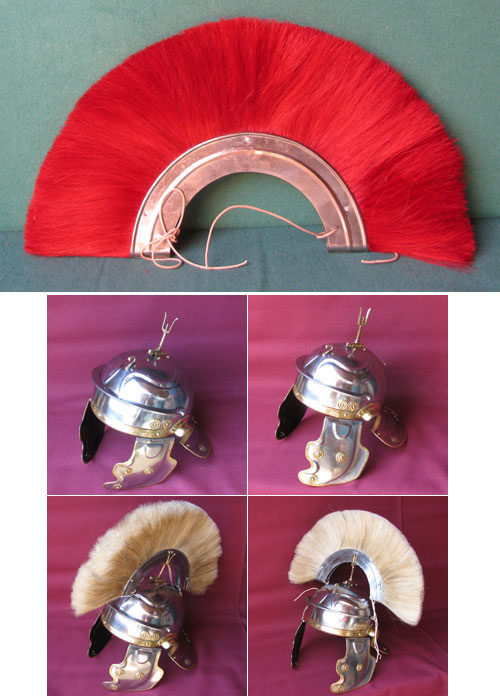 Red Crests for Roman Deepeeka helmets