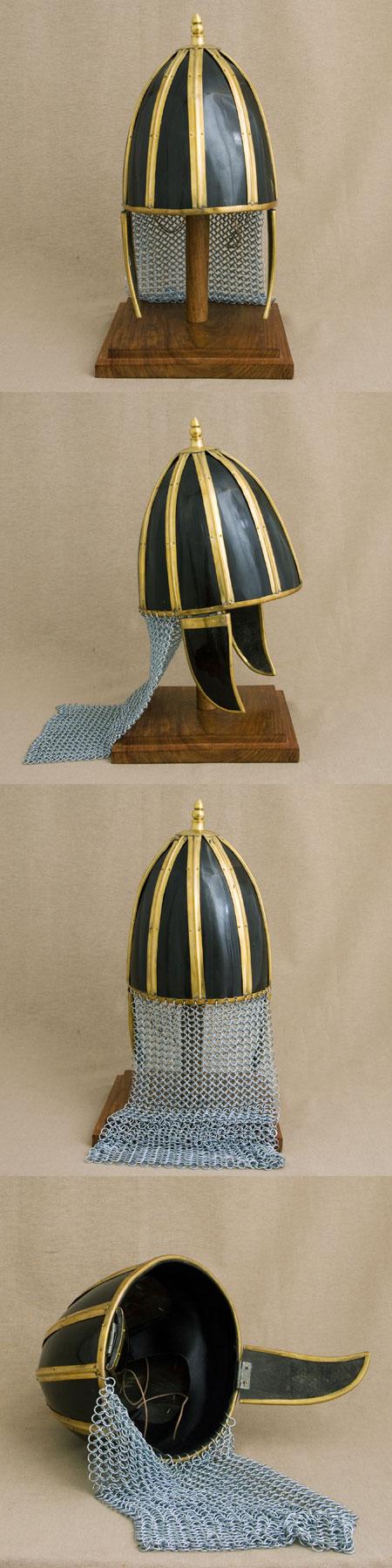 Roman auxiliary horn helmet for reenactors