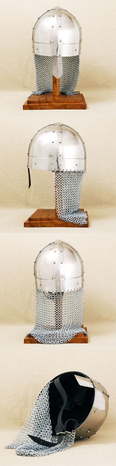 Viking Spangenhelm w.chainmail neck protection