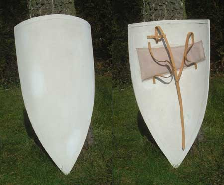 Large Crusader's shield 12th century, unpainted