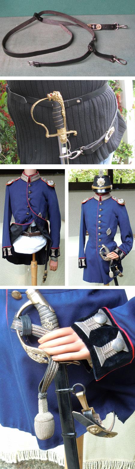 Carrying belt for sabres