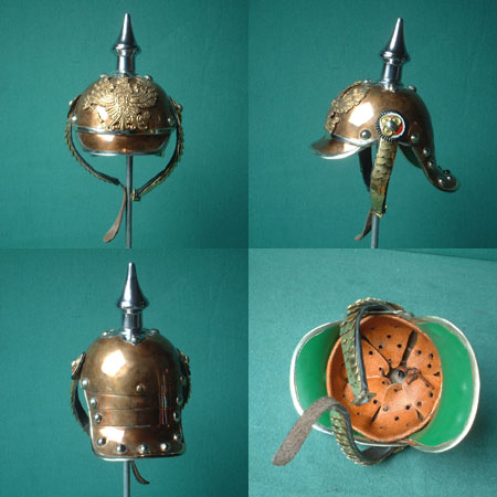 German mini spiked helmet Pickel-haube Prussia, 19th ct.