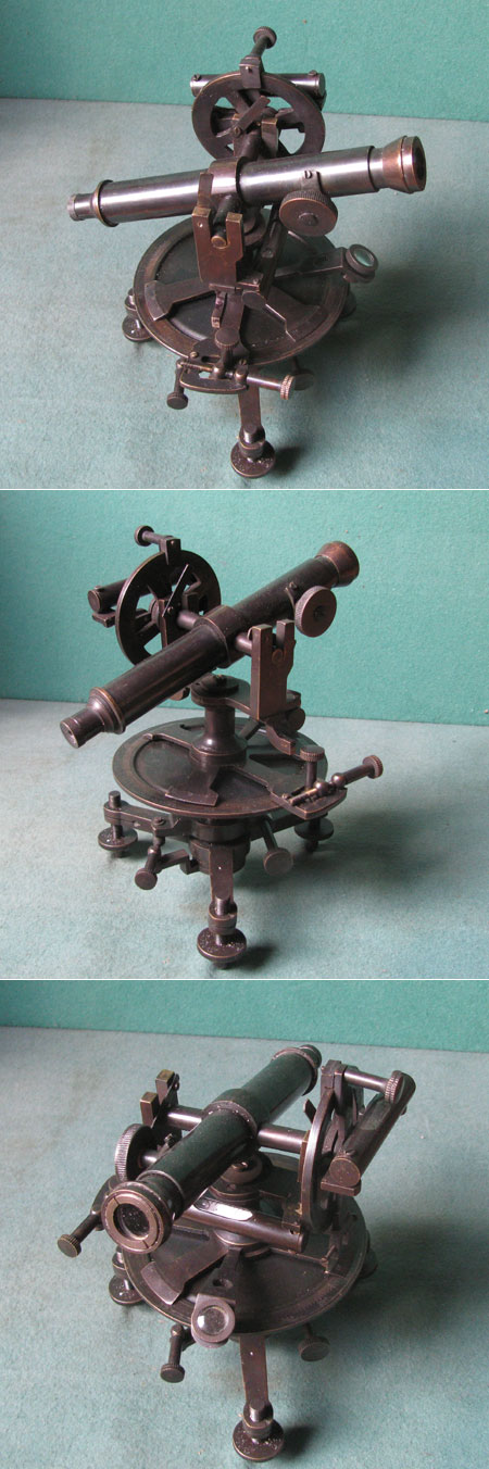 old theodolite replica 19th century, brass, handmade