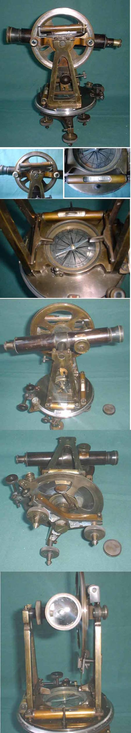 old theodolite replica 13 inch tall with telescope