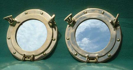 Porthole mirrors - set of two
