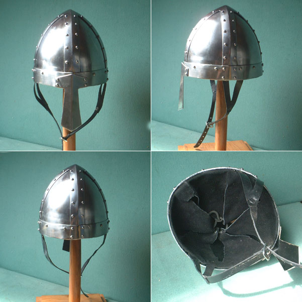 Heavy Duty 13 gauge Viking Combat Helmet w  nose guard