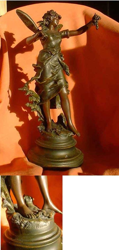 Art Nouveau - figure Moreau around 1900, France