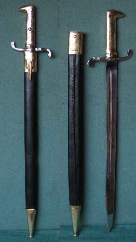 M1871 German bayonet f. German rifles (A1 repro)