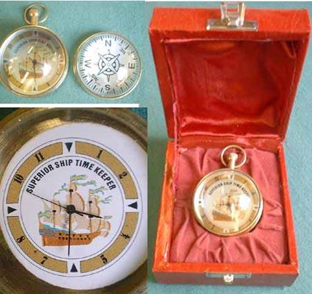 Captain's ball clock, quartz movement, replica