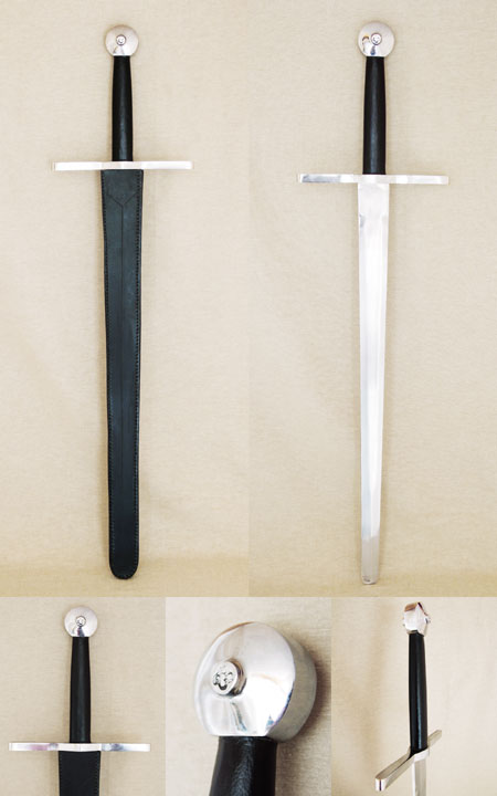 Strong sword, as from 13th century