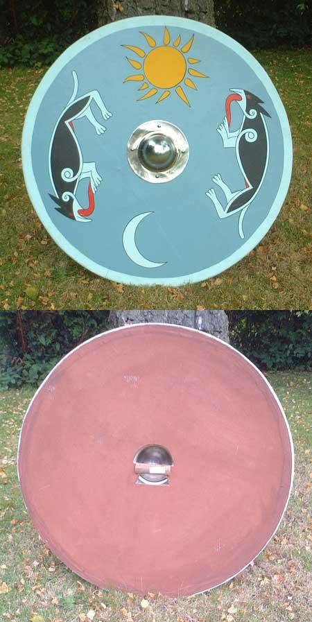 Viking / Norman wooden round combat shield