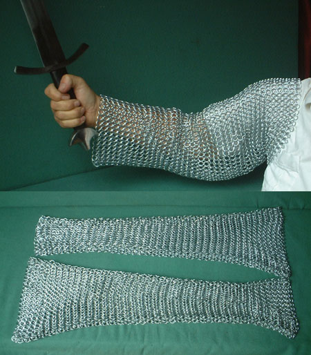 Medieval Chain Mail sleeves (parts of chainmail shirt)