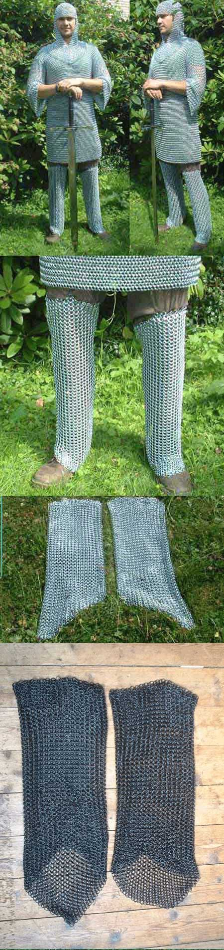 Chain mail leg protection