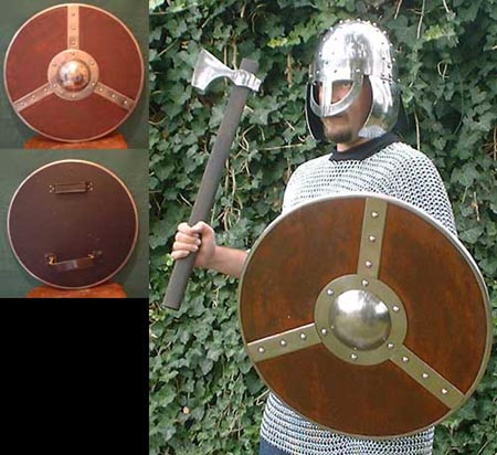 Viking Norman wooden round shield for light combat