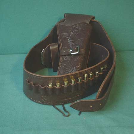 Western Colt Buscadero holster + belt (brown) - size S