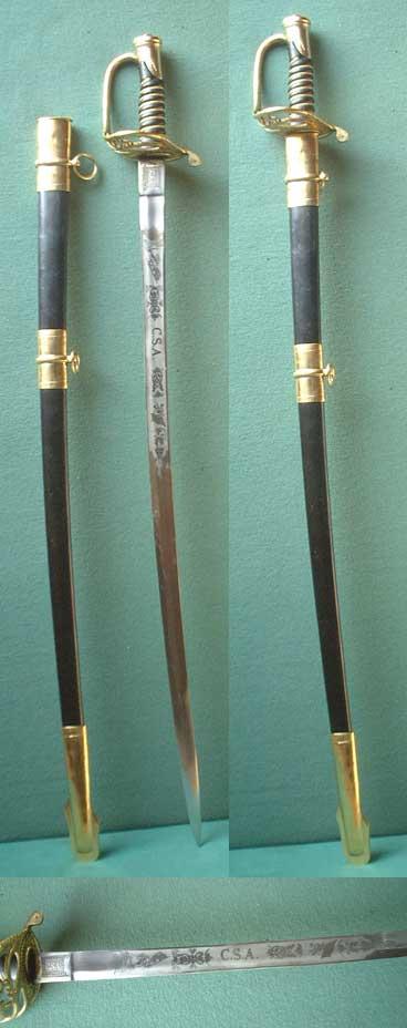 Confederate Officer's Civil War Sabre ( Replica )