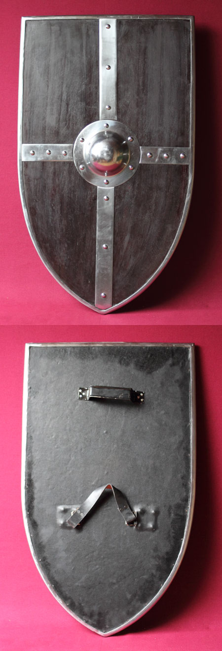 Medieval wooden combat shield