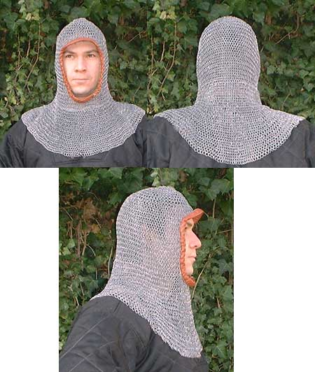 Light Weight Chain Mail Coif