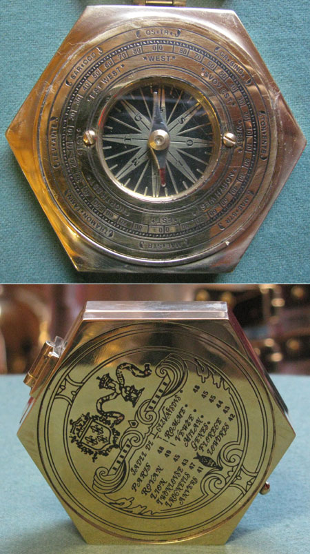 Pocket compass, France 17th century