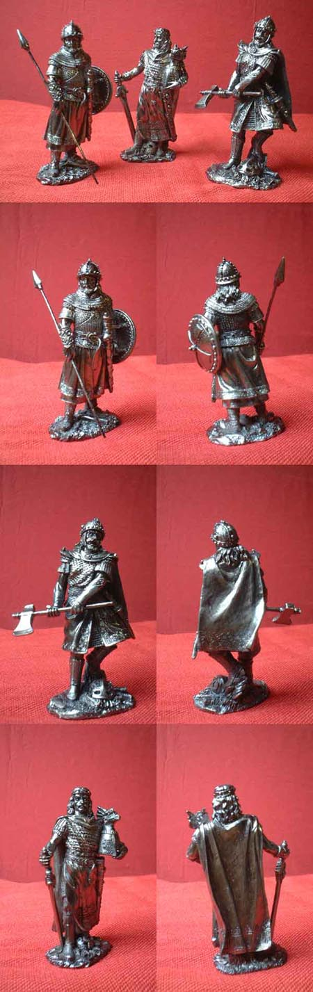 Medieval crusader superb warrior figures