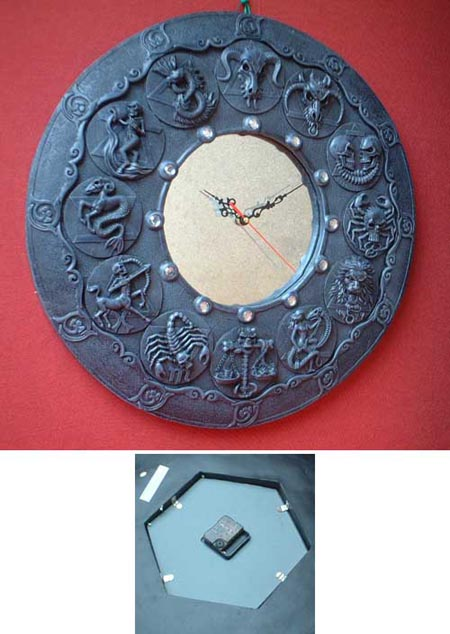 fantasy dragon gothic asterisk wall clock