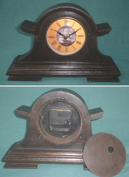 Small mantel clock, Roman figures, antique look