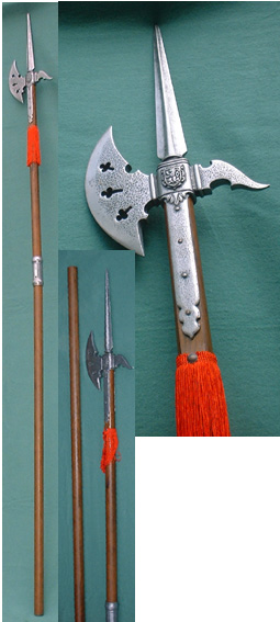 Halberd, Switzerland, Middle Ages / for decoration