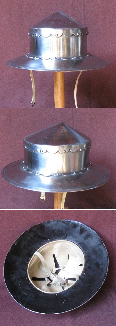 Strong crusader helmet, reenactment