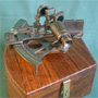 Large Navy Sextant w. hardwood box, replica
