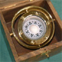 Naval compass in wooden chronometer box